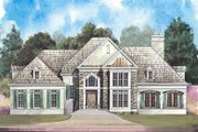 European Style House Plan - 4 Beds 3.5 Baths 3040 Sq/Ft Plan #119-244 Exterior - Front Elevation