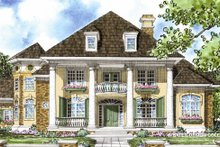 Classical Exterior - Front Elevation Plan #930-269