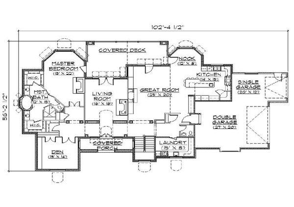 House Plan Design - European Floor Plan - Main Floor Plan #5-319