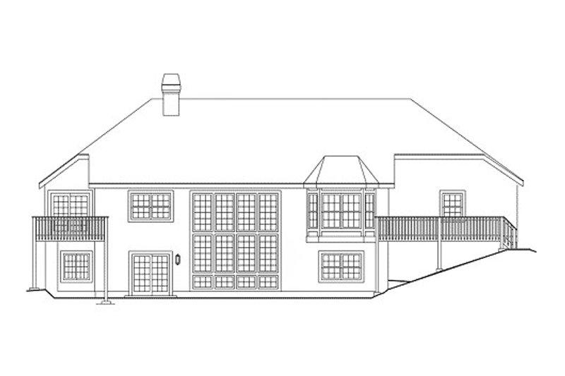 Traditional Exterior - Rear Elevation Plan #57-277 - Houseplans.com