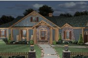 Cottage Style House Plan - 3 Beds 3 Baths 1898 Sq/Ft Plan #56-716 Exterior - Front Elevation