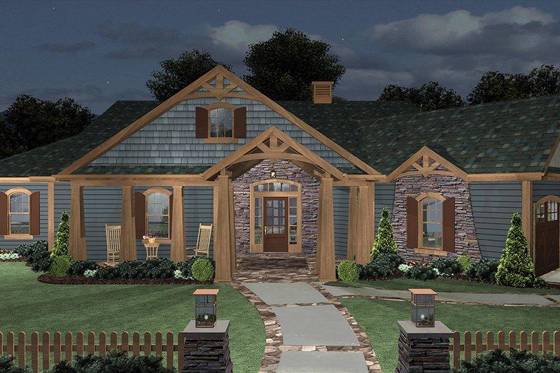 Home Plan - Cottage Exterior - Front Elevation Plan #56-716