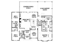Ranch Floor Plan - Main Floor Plan Plan #119-435