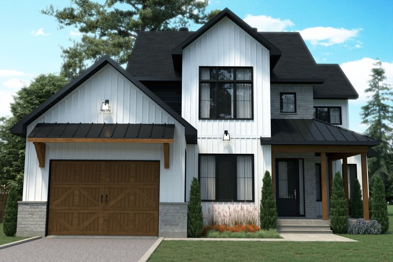 House Plan Design - Farmhouse Exterior - Front Elevation Plan #23-2740