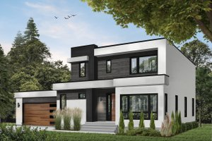 Home Plan Design - Contemporary Exterior - Front Elevation Plan #23-2645