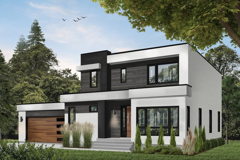 Architectural House Design - Contemporary Exterior - Front Elevation Plan #23-2645
