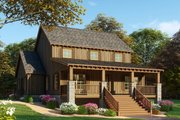 Farmhouse Style House Plan - 3 Beds 2.5 Baths 2144 Sq/Ft Plan #923-91 Exterior - Front Elevation