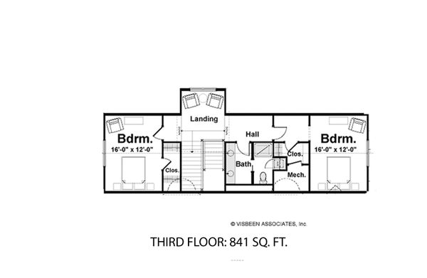 House Plan Design - FINISHED THIRD FLOOR