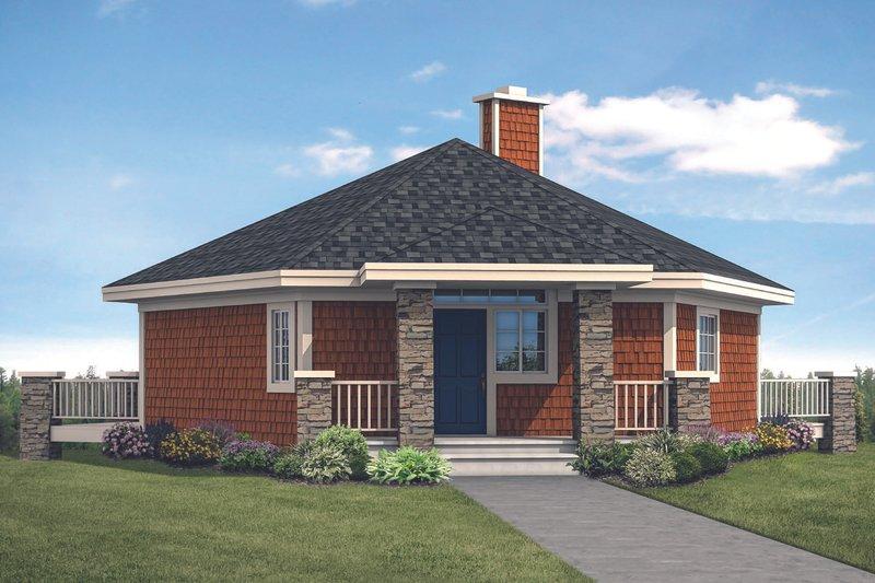 Architectural House Design - Prairie Exterior - Front Elevation Plan #124-1143