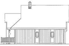 Exterior - Rear Elevation Plan #72-203