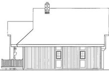 Exterior - Rear Elevation Plan #72-203