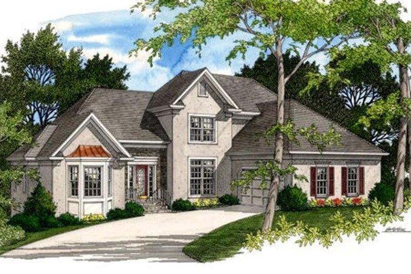 Home Plan Design - European Exterior - Front Elevation Plan #56-194