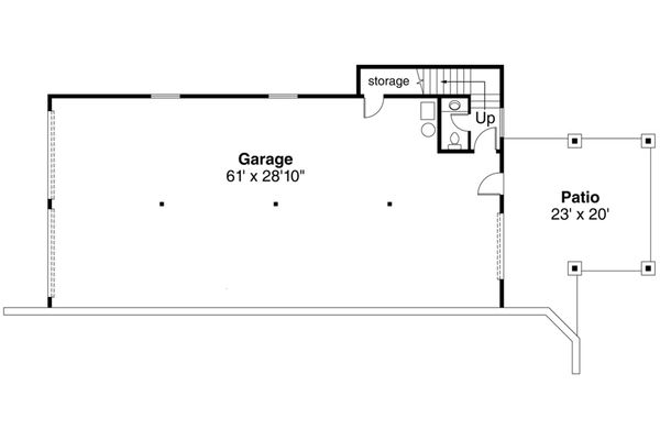 Dream House Plan - Lower Floor Garage