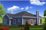 Ranch Style House Plan - 3 Beds 2 Baths 1500 Sq/Ft Plan #70-1207 Exterior - Rear Elevation