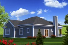 Dream House Plan - Ranch Exterior - Rear Elevation Plan #70-1207