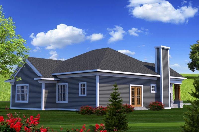 Ranch Exterior - Rear Elevation Plan #70-1207 - Houseplans.com