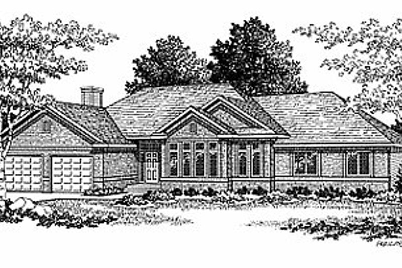 Traditional Exterior - Front Elevation Plan #70-288