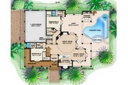 Traditional Style House Plan - 4 Beds 4.5 Baths 3522 Sq/Ft Plan #27-409 Floor Plan - Main Floor Plan