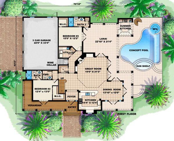 Traditional Floor Plan - Main Floor Plan Plan #27-409