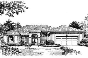 Mediterranean Exterior - Front Elevation Plan #417-281
