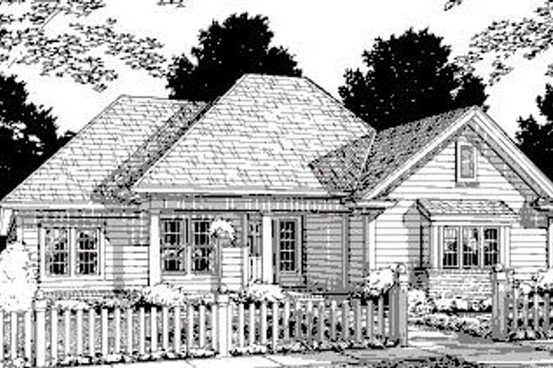 Cottage Exterior - Front Elevation Plan #20-319 - Houseplans.com