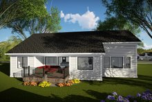 House Design - Ranch Exterior - Rear Elevation Plan #70-1477