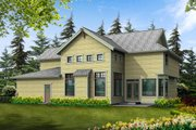 Craftsman Style House Plan - 3 Beds 2.5 Baths 3130 Sq/Ft Plan #132-145 Exterior - Rear Elevation