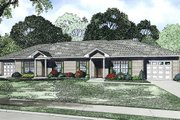 Ranch Style House Plan - 2 Beds 1 Baths 1904 Sq/Ft Plan #17-2449 Exterior - Front Elevation