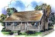 Cabin Style House Plan - 2 Beds 1 Baths 900 Sq/Ft Plan #18-327 Exterior - Front Elevation