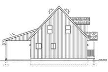 Cottage Exterior - Rear Elevation Plan #126-217