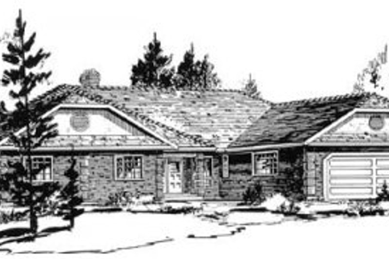 Traditional Style House Plan - 4 Beds 2.5 Baths 2288 Sq/Ft Plan #18-8960 Exterior - Front Elevation