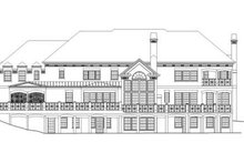 Home Plan - Classical Exterior - Rear Elevation Plan #119-324