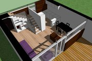 Modern Style House Plan - 2 Beds 1 Baths 709 Sq/Ft Plan #473-3 Photo