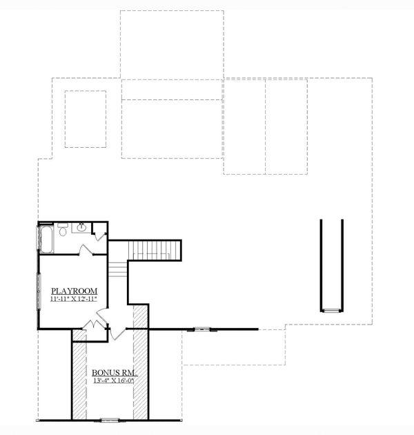 Traditional Floor Plan - Upper Floor Plan #1071-15