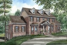 House Plan Design - Colonial Exterior - Front Elevation Plan #17-292