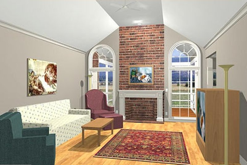 Southern Style House Plan 3 Beds 2 5 Baths 1992 Sq Ft