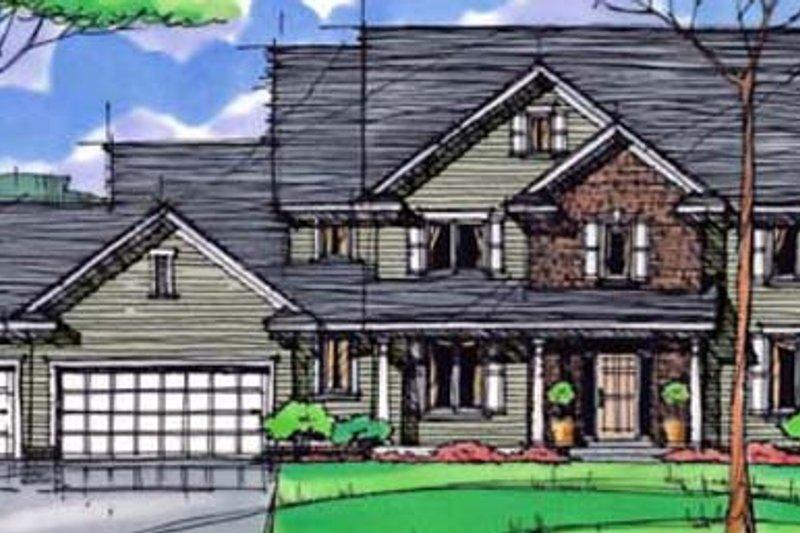 Craftsman Exterior - Front Elevation Plan #51-412 - Houseplans.com