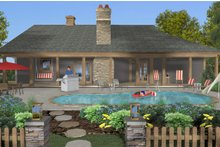 Architectural House Design - Cottage Exterior - Rear Elevation Plan #56-716