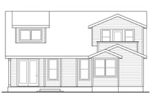House Plan Design - Cottage Exterior - Rear Elevation Plan #124-1036