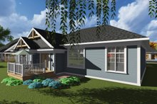 Home Plan Design - Ranch Exterior - Rear Elevation Plan #70-1244