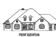 European Style House Plan - 4 Beds 3.5 Baths 2952 Sq/Ft Plan #17-2193 Exterior - Other Elevation