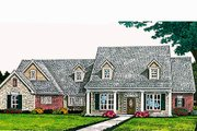 Traditional Style House Plan - 3 Beds 2.5 Baths 2558 Sq/Ft Plan #310-691 Exterior - Front Elevation