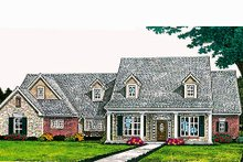 Dream House Plan - Traditional Exterior - Front Elevation Plan #310-691