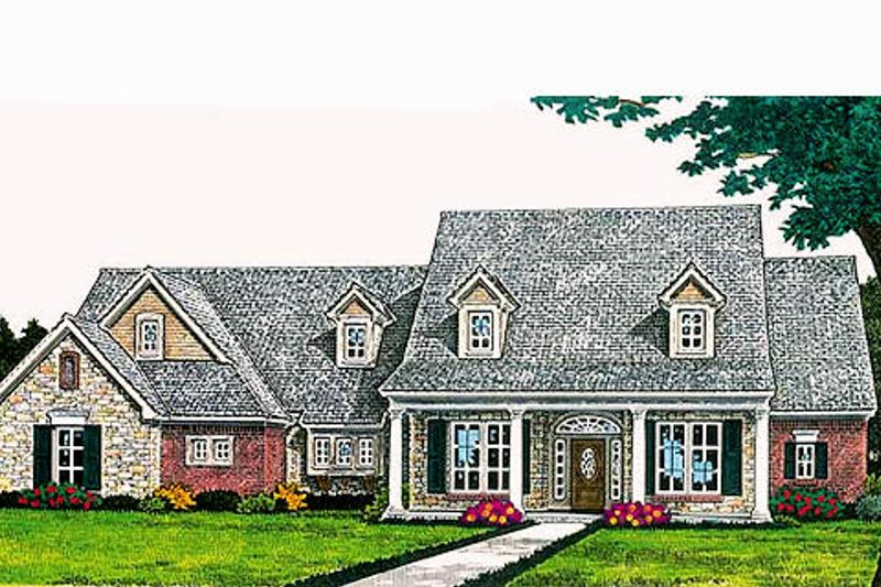 Traditional Exterior - Front Elevation Plan #310-691 - Houseplans.com