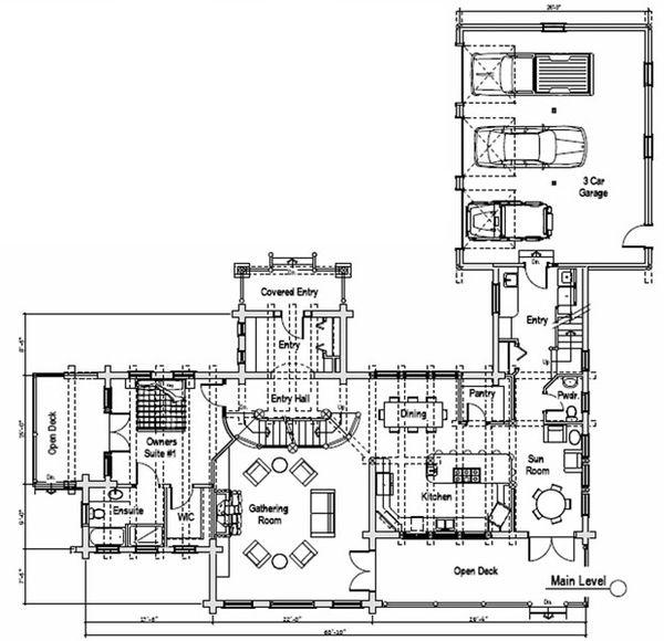 Log Floor Plan - Main Floor Plan Plan #451-16