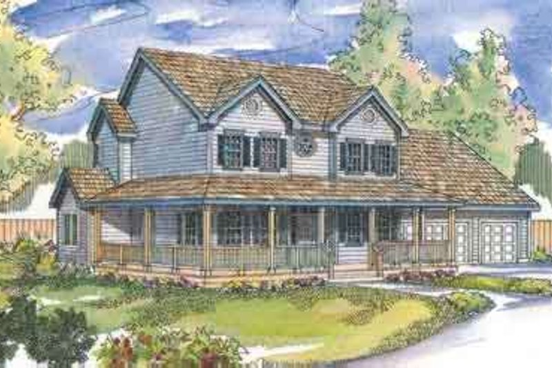 Traditional Exterior - Front Elevation Plan #124-488 - Houseplans.com