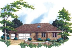 Traditional Exterior - Front Elevation Plan #48-290