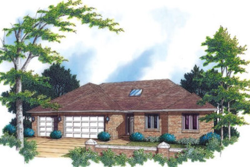 Traditional Style House Plan - 3 Beds 2.5 Baths 2200 Sq/Ft Plan #48-290 Exterior - Front Elevation