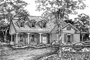 Traditional Style House Plan - 4 Beds 2.5 Baths 1999 Sq/Ft Plan #50-156 Exterior - Front Elevation