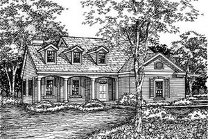 Traditional Exterior - Front Elevation Plan #50-156